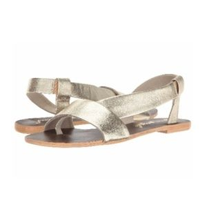 Free People Shoes - New FREE PEOPLE under wraps gold metallic sandal 8